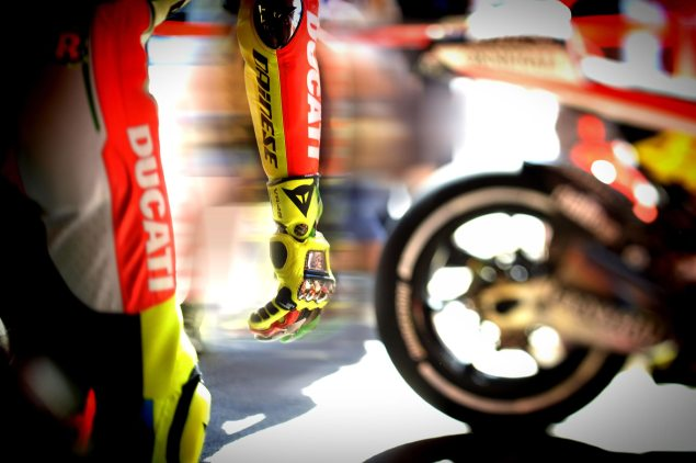 Saturday Summary at Catalunya: Of Tires, Weather, And Reasons To Win At Barcelona Valentino Rossi Ducati Corse Catalunya 635x422