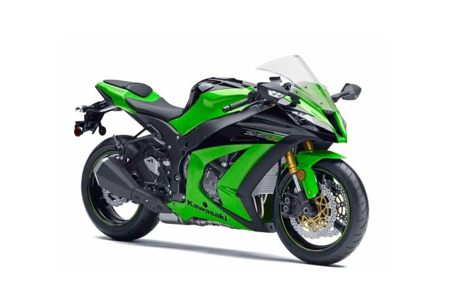 2013 Kawasaki Ninja ZX 10R Gets Adaptive Electronic Steering Damper   Welcome to 2004 Says Honda 2013 Kawasaki Ninja ZX 10R Green 635x435