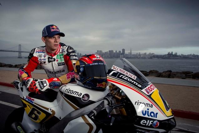 LCR Hondas Stefan Bradl Rides thru San Francisco LCR Honda Stefan Bradl San Francisco US GP 11 635x423