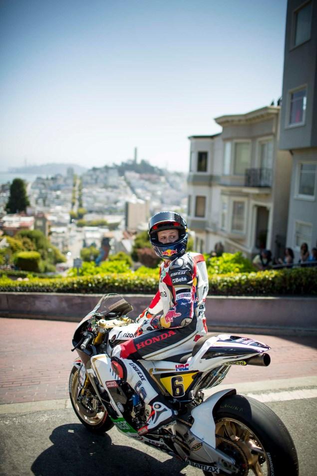 LCR Hondas Stefan Bradl Rides thru San Francisco LCR Honda Stefan Bradl San Francisco US GP 21 635x952