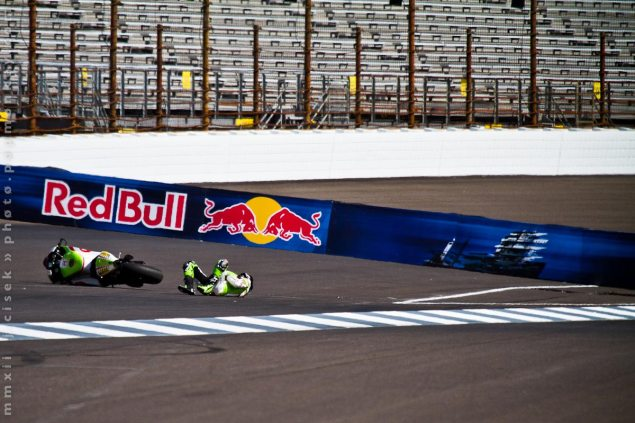 MotoGP: Hector Barbera Fractures Vertebrae at Indy Hector Barbera crash Indianapolis GP 635x423