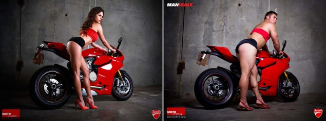 Going Viral: Motorcyclings Lady Trope Problem MotoCorsa seDUCATIve MANigale photo comparison 02 635x237
