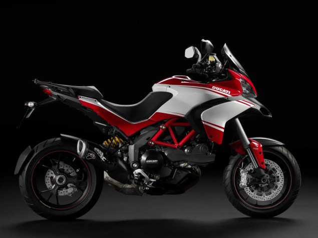 Ducati Multistrada 1200 Gets Semi Active Suspension 2013 Ducati Multistrada 1200 S Pikes Peak 04 635x475