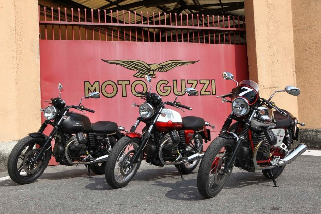 Three Moto Guzzi V7 Models Coming to America for 2013 2013 Moto Guzzi V7 range 635x423
