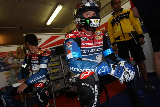 Video: John McGuinness Does a Lap in the Dark at Le Mans John McGuinness Le Mans Pit 635x423