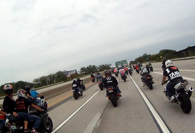 Video: Missouri Cops Hit Motorcyclists During Rally Ride Ride of the Century
