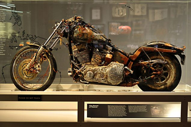 Harley Davidson Museum Opens Exhibit for Japanese Tsunami Motorcycle harley davidson tsunami motorcycle museum 635x423