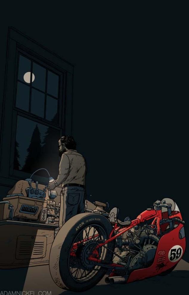 Motorcycle Art by Adam Nickel Adam Nickel motorcycle art dedication