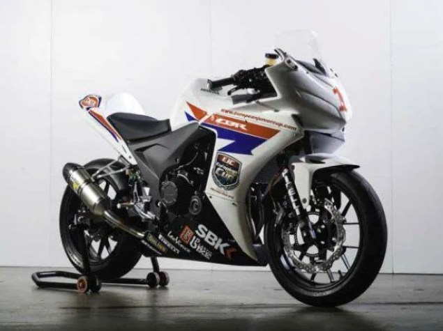 First Look at the Honda CBR500R Race Bike Honda CBR500R race bike 04
