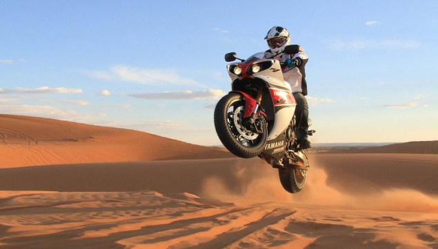 A Year in Review with Asphalt & Rubber: 2012 Yamaha YZF R1 sand dunes 635x362