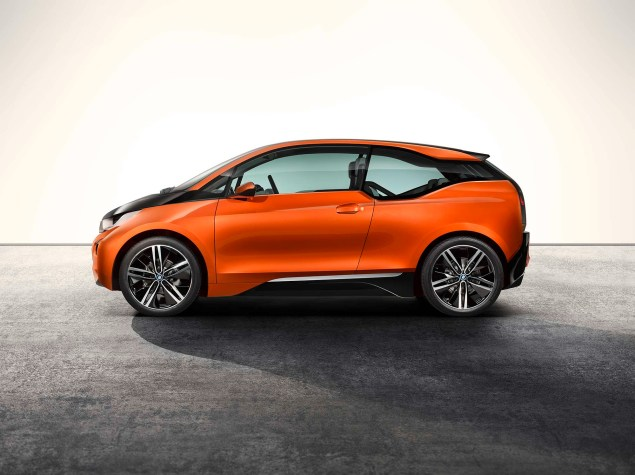 Brain Teaser: The BMW i3 Electric Car Will Have an Optional Gas Powered Motorcycle Engine in It BMW i3 concept 10 635x475