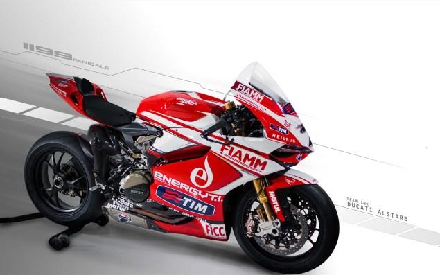 Photos: Ducati Alstare Unveils The WSBK Hotness 2013 Ducati Alstare 1199 Panigale R WSBK 01 635x397
