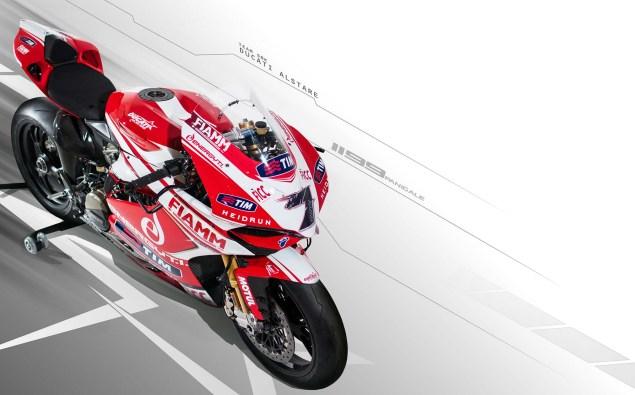 Photos: Ducati Alstare Unveils The WSBK Hotness 2013 Ducati Alstare 1199 Panigale R WSBK 02 635x395