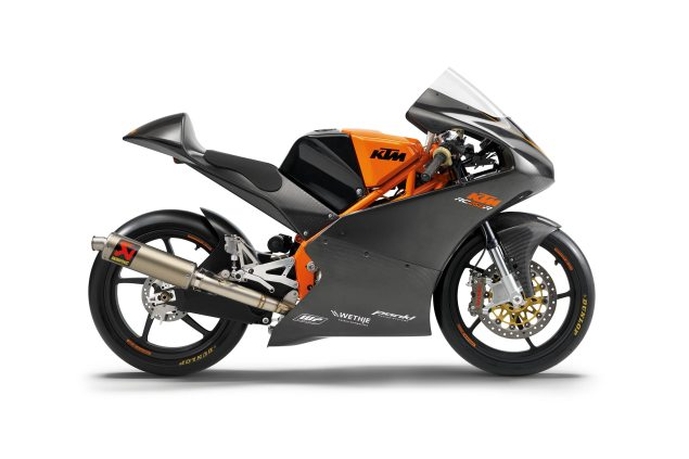 Watch a Timelapse Video of the KTM RC250GP Moto3 Build 2013 KTM RC250R Moto3 Race Bike 635x423