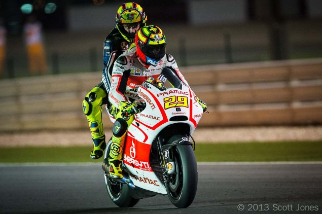 Trackside Tuesday: The Story Begins Scott Jones MotoGP Qatar Valentino 2up Andrea Iannone 635x422