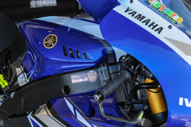 Up Close with the 2013 Yamaha YZR M1 Yamaha YZR M1 MotoGP Valentino Rossi Up Close 21 635x421