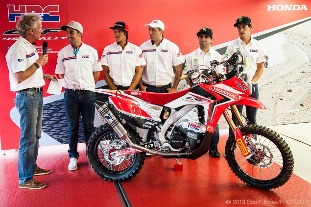 HRC Sets Out To Win Dakar   Announces Team & New Bike SJ10018 635x422