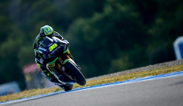 Saturday Summary at Jerez: Of Crashes, Tires, & Optimism cal crutchlow monster yamaha tech 3 jerez