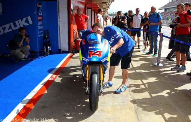 XXX: 10 Photos of the Suzuki XRH 1 Testing at Catalunya 2015 Suzuki XRH1 MotoGP Catalunya Niki Kovacs 01