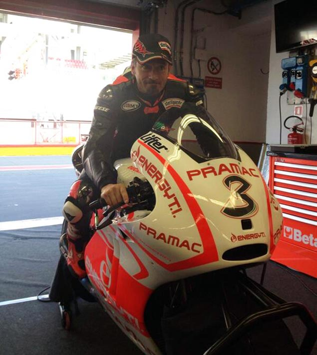 Caption This Photo: The Prodigal Son max biaggi pramac ducati