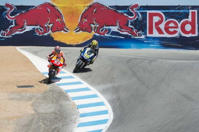 Photos: Marc Marquez Passing Valentino Rossi in The Corkscrew at Laguna Seca Marc Marquez Valentino Rossi Laguna Seca Corkscrew Pass Kevin Warren 3 635x423