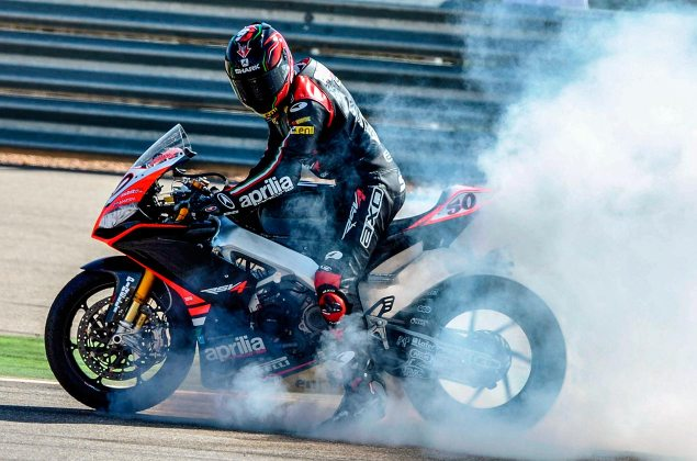 Analyzing the Details of the 2014 WSBK & EVO Regulations sylvain guintoli burnout aprilia racing 635x420
