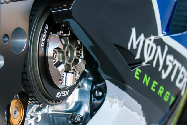 MotoGP: Yamaha Debuts Seamless Gearbox at Brno Test   Shift Times 58% Quicker than Conventional Gearbox yamaha yzr m1 clutch 635x425