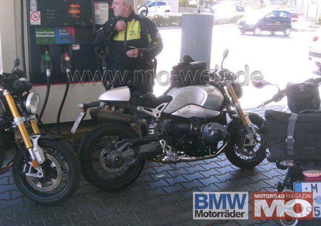 Spy Shots: BMW NineT Spotted in the Wild BMW NineT roadster spy photo 03 635x448