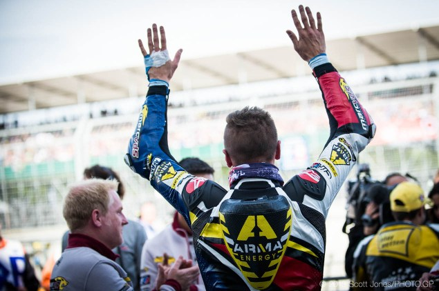 Scott Redding salutes crowd