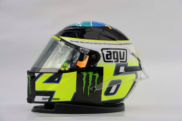 Photos: Valentino Rossis Pink Floyd Helmet at Misano Valentino Rossi Misano Helmet wish you were here 10