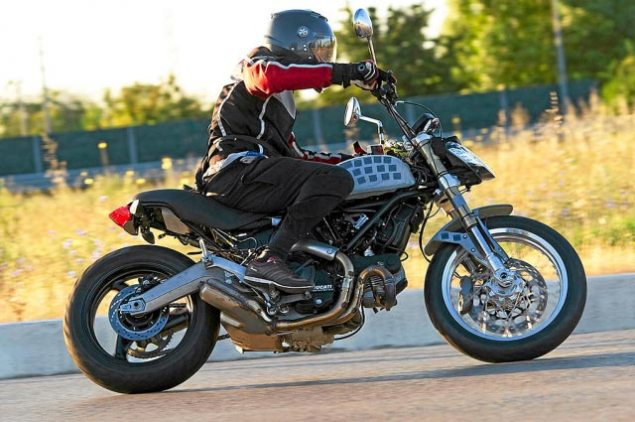 Ducati Scrambler Spotted Again ducati scrambler spy photo