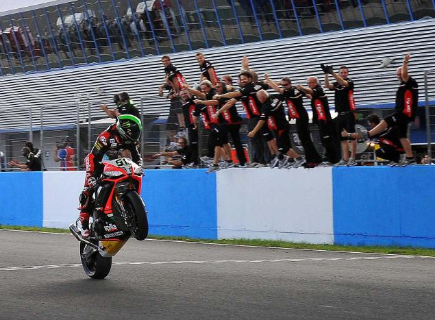 WSBK: Race Results for Race 2 at Jerez eugene laverty wsbk wheelie jerez aprilia racing 635x467