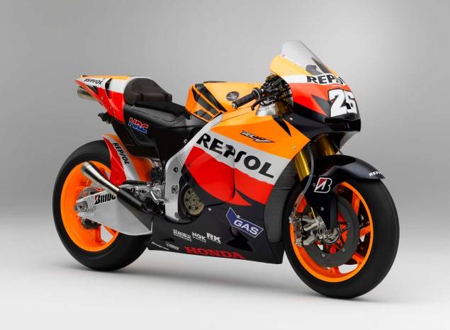 The Lineage of Hondas Grand Prix Motorcycles 2010 Honda RC212V Dani Pedrosa 635x466