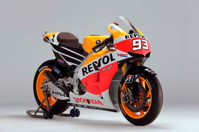 The Lineage of Hondas Grand Prix Motorcycles 2013 Honda RC213V Marc Marquez 635x423