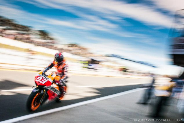 Monday MotoGP Mathematics: All the Permutations for the MotoGP and Moto3 Titles at Valencia marc marquez phillip island blur motogp scott jones 635x423