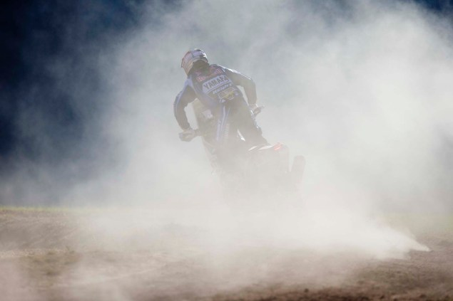 Photos: Cyril Despres & His Yamaha YZ450F Rally Race Bike Cyril Despres Yamaha YZ450F Rally action 05 635x423