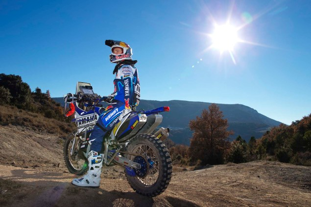 Photos: Cyril Despres & His Yamaha YZ450F Rally Race Bike Cyril Despres Yamaha YZ450F Rally action 09 635x423