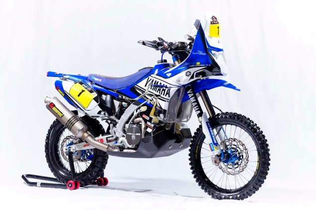 Photos: Cyril Despres & His Yamaha YZ450F Rally Race Bike Cyril Despres Yamaha YZ450F Rally studio 02 635x423