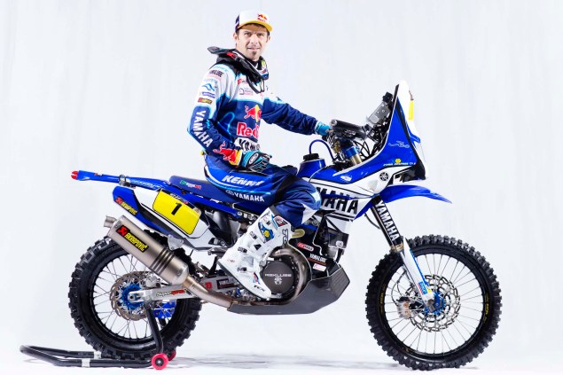 Photos: Cyril Despres & His Yamaha YZ450F Rally Race Bike Cyril Despres Yamaha YZ450F Rally studio 06 635x423