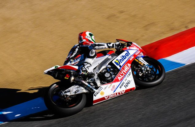 WSBK: Althea Racing Returns to Ducati   Will Field Niccolò Canepa with an EVO Entry in 2014 althea racing laguna seca jensen beeler 635x414