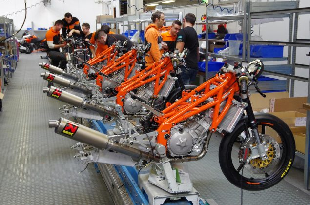 Grand Prix Commission Updates Rules: Penalty Points Now Valid for a Year, Moto3 Chassis Price Capped ktm moto3 race bike assembly line 635x420