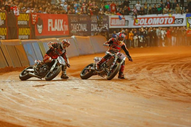 Video of the 2014 Superprestigio Races brad baker marc marquez superprestigio dirt track final