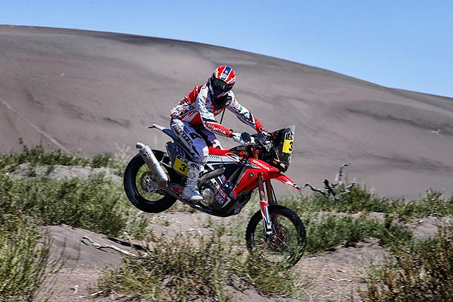 Dakar Rally – Stage 3: Honda Makes It a Hat Trick joan barreda hrc dakar rally stage three