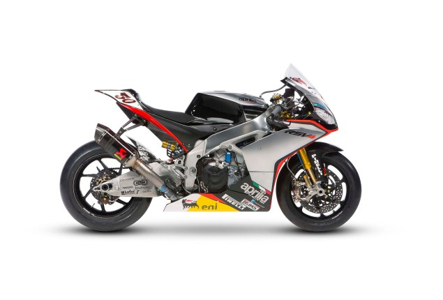 Photos: Aprilias World Superbike Silver Fireball Livery Aprilia RSV Factory Silver Fireball livery Team Launch WBSK 01 635x430