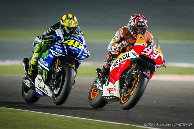 MotoGP: Race Results from Qatar valentino rossi marc marquez motogp qatar gp scott jones 635x422