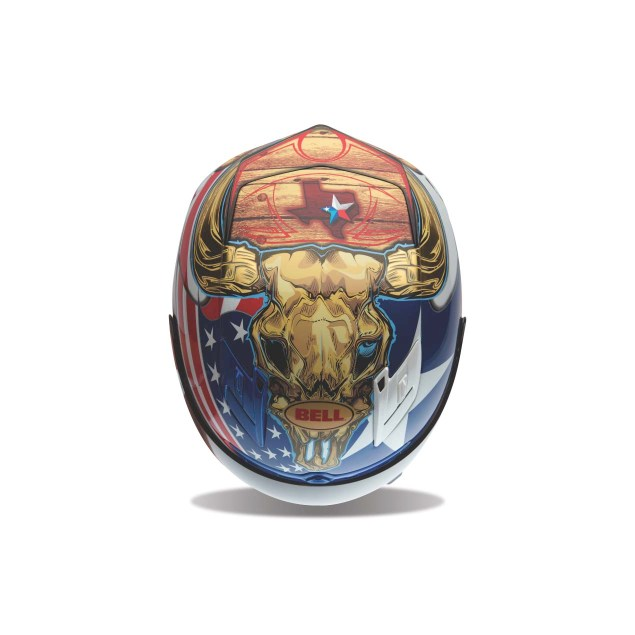 Bell & COTA Create Texas Themed Limited Edition Helmet Bell Circuit of the Americas COTA MotoGP helmet 01 635x635