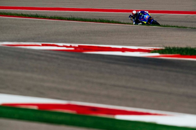 Kevin Schwantz Tests Suzuki XRH 1 MotoGP Bike at COTA, While Randy De Puniet Matches Pace of Open Bikes Kevin Schwantz Randy de Puniet Suzuki XRH 1 MotoGP COTA test 20 635x423