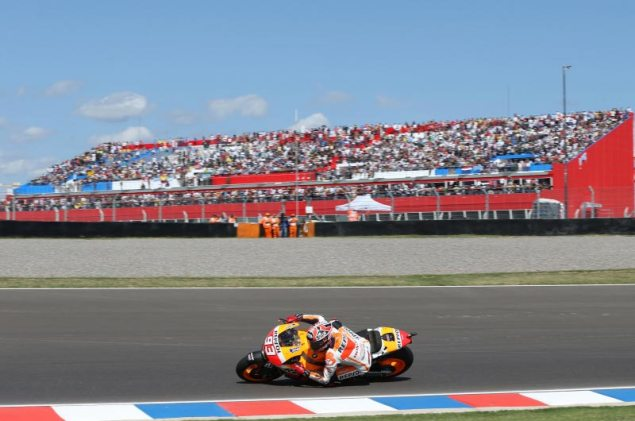 Sunday Summary at Argentina: Of New Tracks, Doohanesque Domination, & The Merits of a Rossi Revival marc marquez termas de rio hondo hrc 635x421