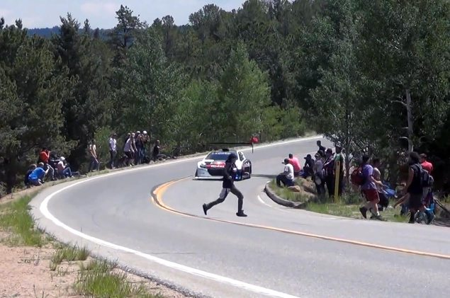 This is the Reason Why Pikes Peak Needs Spectator Zones sebastien loeb idiot pikes peak 635x421