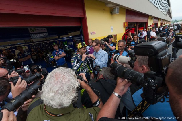 Friday Summary at Mugello: On Wasted Sessions, A Feisty Rossi, And American Joy & Despair 2014 Friday Italian GP Mugello MotoGP Tony Goldsmith 02 635x422